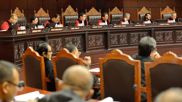 Sidang Gugatan Pilpres 2014 di Mahkamah konstitusi menghadirkan saksi-saksi dari pihak Prabowo-Hatta.