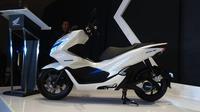 Honda PCX listrik resmi dihadirkan PT Astra Honda Motor. (Dian/Liputan6.com)