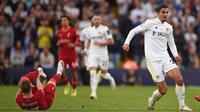 Gelandang Liverpool itu akan menjalani operasi akibat cedera berat pada pergelangan kaki. (Foto:AFP/Oli Scarff)