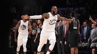 Selebrasi LeBron James di NBA All-Star 2018 (AFP)