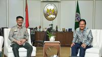 Menteri Pertanian Syahrul Yasin Limpo (SYL) menyambangi Kementerian Agraria dan Tata Ruang/Badan Pertanahan Nasional (ATR/BPN).