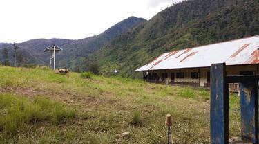 Teroris KKB merusak dan membakar sejumlah fasilitas umum di Puncak, Papua