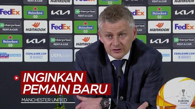 Berita video Ole Gunnar Solskjaer mengungkapkan inginkan 2-3 pemain baru untuk musim depan dalam konferensi pers setelah laga Final Liga Europa 2020/2021, Kamis (27/5/2021) dinihari WIB.