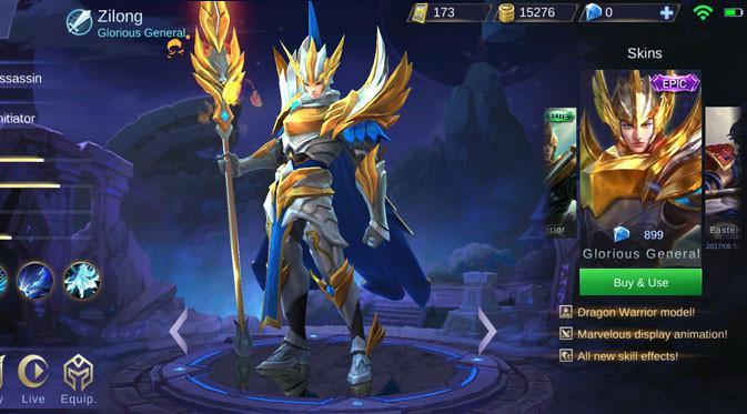 Zilong - Glorius General. Liputan6.com/ Yuslianson
