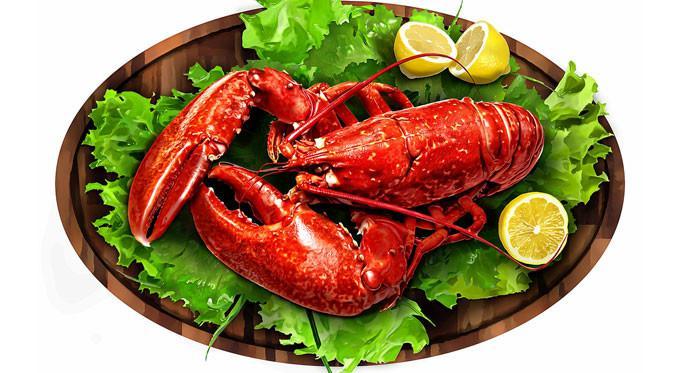 Hidangan lobster.