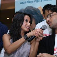 Shaheer Seikh dan Kirana Larasati di preskon film 'Turis Romantis'. Foto: Galih W. Satria/ Bintang.com