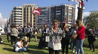 Gempa di Izmir, Turki. Tsunami kecil juga terjadi. Dok: AP Photo/Ismail Gokmen
