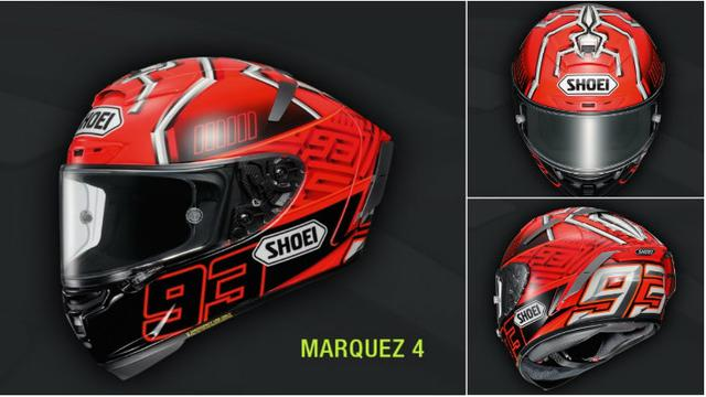 mengintip kecanggihan helm baru marc marquez otomotif. Black Bedroom Furniture Sets. Home Design Ideas