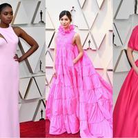 Red carpet Oscar 2019 menjadi lautan gaun merah jambu. (Foto: instagram.com)