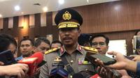 Kapolda Metro Jakarta Irjen Nana Sujana usai pelantikan, Selasa (7/1/2020). (Liputan6.com/Yopi Makdori)