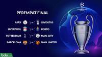 Liga Champions Perempat Final (Bola.com/Adreanus Titus)