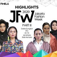 Highlights JFW 2020 Part 3 | Zaskia Sungkar | ETU | I.K.Y.K | Jenahara | Barli Asmara