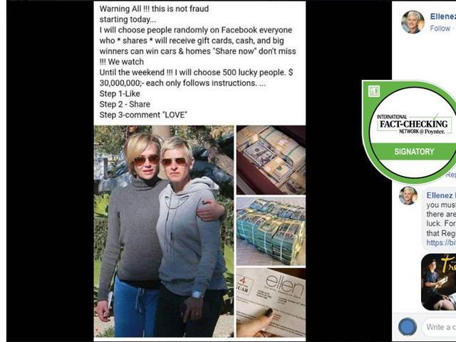 Cek Fakta Ellen Degeneres Bagi Bagi Uang Usd 10 Miliar Di