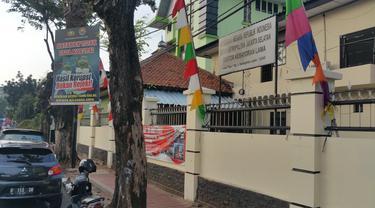 Lokasi teror bendera diduga ISIS di Polsek Kebayoran Lama