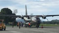 Situasi persiapan di Base Ops Lanud Jayapura. (Liputan6.com/Katharina Janur)