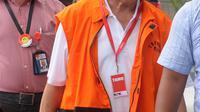 Anggota Komisi IX DPR Amin Santono tiba di gedung KPK, Jakarta, Senin (14/5). Amin diperiksa sebagai tersangka terkait suap penerimaan hadiah atau janji mengenai usulan dana perimbangan keuangan daerah pada RAPBN Perubahan 2018. (Merdeka.com/Dwi Narwoko)