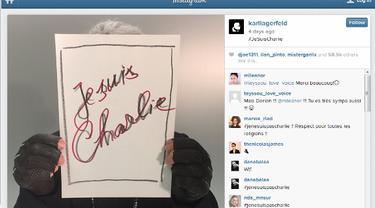 Karl Lagerfeld on Charlie Hebdo 0115