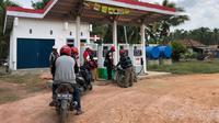 Pertamina mendirikan lembaga penyalur SPBU Kompak 26.307.29 di Desa Sukajadi Kecamatan Lalan Kabupaten Muba Sumsel (Dok. Humas Pertamina MOR II Sumbagsel  / Nefri Inge)