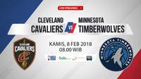 Cleveland Cavaliers Vs Minnesota Timberwolves (Bola.com/Adreanus Titus)
