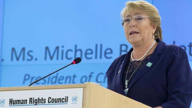 Komisioner Tinggi HAM PBB, Michelle Bachelet (kredit: UN)