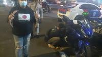 Razia Knalpot Bising Oleh Polisi Di Banten. (Minggu, 14/03/2021). (Dokumentasi Satlantas Polres Serang Kota).