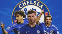 Chelsea - Hernan Crespo, Timo Werner, Andriy Shevchenko (Bola.com/Adreanus Titus)