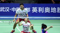 Ganda campuran Indonesia Praveen Jordan / Debby Susanto menyingkirkan pasangan Korea,  Choi Solgyu/Chae Yoo Jung, pada babak kedua Badminton Asia Championships 2017 di Wuhan Sports Center Gynasium, Kamis (27/4/2017) pagi WIB. (Humas PP PBSI)
