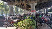 Kondisi di Simpang Kebon Nanas, Jakarta Timur, Selasa (14/3/2017) pagi. (Liputan6.com/Nanda Perdana Putra)