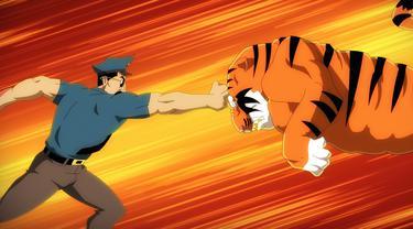 Ternyata polisi bisa kecele sama harimau. (Sumber foto: youtube.com)