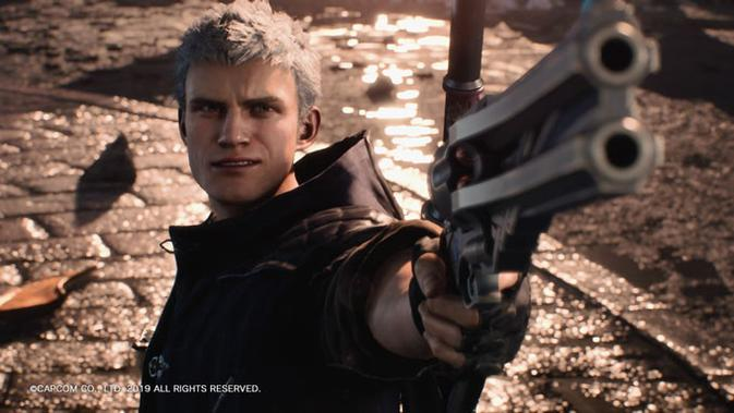 Nero tampil kembali di Devil May Cry 5. (Liputan6.com/ Yuslianson)