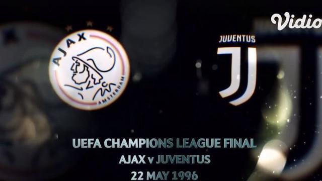 Berita video flashback highlights final Liga Champions 1996 di mana Juventus mengalahkan Ajax dengan drama adu penalti.