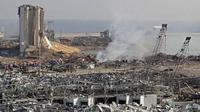 Ledakan yang terjadi di Lebanon, Beirut, menghancurkan pelabuhan hingga gedung-gedung tinggi dan bangunan di sekitar.