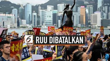 Rancangan Undang-Undang Ekstradisi dibatalkan pemerintah Hong Kong. Ini dilakukan tanpa adanya proses voting maupun debat untuk menghilangkan kecemasan warga.