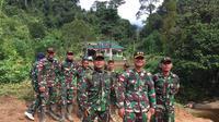 TNI penjaga perbatasan Indonesia-Malaysia di Entikong.