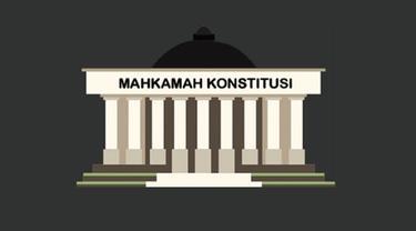 Banner Gedung Mahkamah Konstitusi