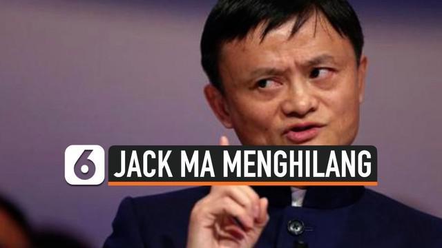 Pendiri Alibaba Group, Jack Ma, dikabarkan telah menghilang dari publik selama dua bulan. Jack Ma sempat mengkritik sistem regulasi China dalam pidatonya di Shanghai pada akhir Oktober 2020 lalu.