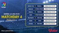 Jadwal dan Live Streaming La Liga Spanyol 2021/2022 Pekan Keempat di Vidio, 12-14 September 2021. (Sumber : dok. vidio.com)