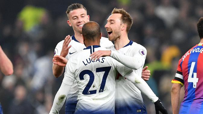 Tottenham meraih kemenangan atas Crystal Palace. (AFP/Daniel Leal-Olivas)