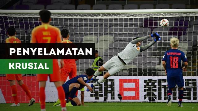Berita video kiper China, Yan Junling melakukan penyelamatan krusial saat hadapi Thailand di babak 16 besar Piala Asia 2019.