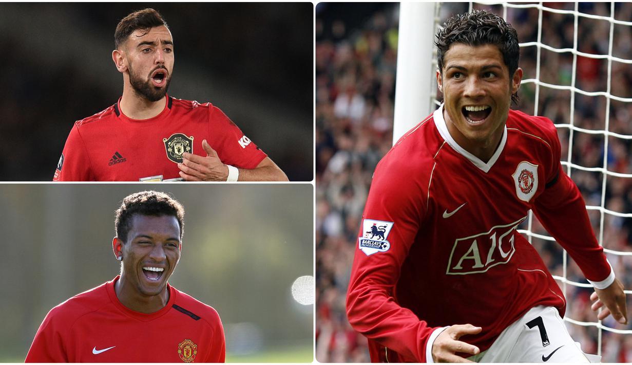 Cristiano Ronaldo jadi pemain asal Portugal yang sukses berkarier di Manchester United. Selain Ronaldo ada pemain Portugal yang tercatat pernah dan masih bermain untuk Setan Merah. Berikut Cristiano Ronaldo dan 5 pemain asal Portugal di Manchester United. (kolase foto AFP)