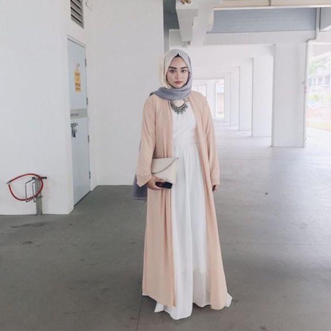 Padu padan abaya untuk busana kantor. (sumber foto: gorgeoushijabfashion.tumblr.com/pinterest)
