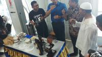 AHY meracik kopi di Wonosobo, Jawa Tengah (Liputan6.com/ Ady Anugrahadi)