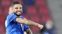 Lorenzo Insigne - Jebolan asli akademi Napoli ini berkembang menjadi salah satu bomber terbaik di Serie A. Berlabel striker Italia termahal, yakni 48 juta euro tentunya kualitasnya tak perlu diragukan lagi.  (AP/Antonio Calanni)