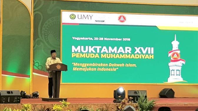 Wapres Jusuf Kalla membuka Muktamar Pemuda Muhammadiyah di Yogyakarta.