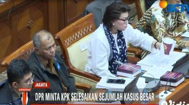 Komisi III mengajukan sejumlah rekomendasi, antara lain meminta KPK segera menyelesaikan sejumlah kasus besar.