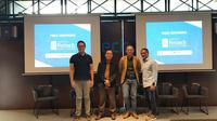 Konferensi press kegiatan fintech terbesar di Indonesia yaitu Indonesia Fintech Summit & Expo (IFSE) 2019., Kamis (22/8/2019).