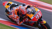 Pebalap Repsol Honda, Marc Marquez, membidik podium pertama pada musim 2017 pada balapan MotoGP Austin di Circuit of the Americas (COTA), Texas, AS, 23 April. (Bola.com/Twitter/MotoGP)