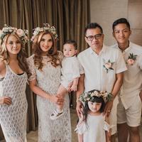 Pesta perayaan ulang tahun pernikahan Anang Hermansyah dan Ashanty. (Instagram/azriel_hermansyah)