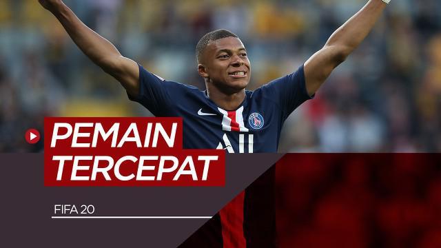 Berita motion grafis Kylian Mbappe dan 4 pemain tercepat versi FIFA 20 lainnya.