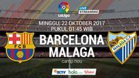 La Liga 2017-2018 Barcelona Vs Malaga (Bola.com/Adreanus Titus)